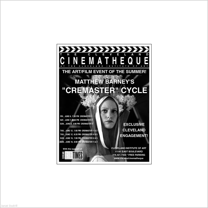 Cinematheque at The Cleveland Institute of Art – Ad for Free Times